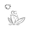 funny frog love story on white background vector image