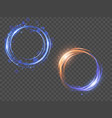 glow light effect magic round frame vector image vector image