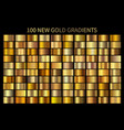 gold gradient set shiny elegant golden vector image