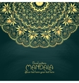 Golden mandala pattern design template Vintage vector image