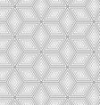 Gray dotted cubes with offset vector image