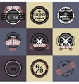 Gun shop logotypes and badges set vector image vector image