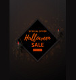 halloween sale design poster vector image vector image