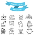 Hand draw of Christmas set element vector image vector image
