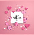 happy mother day paper art floral card template vector image vector image