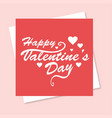 happy valentines day card pink background vector image vector image