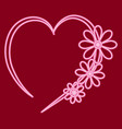heart with flowers vector image vector image