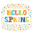 Hello spring card with decorative design elements vector image vector image