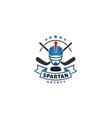 ice hockey spartan stars logo vector image