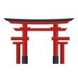 japan travel torii gate icon vector image