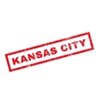 Kansas City Rubber Stamp vector image vector image
