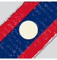 Laos grunge flag vector image vector image
