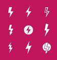 lightning bolts warning signs vector image vector image