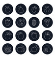 line icons of fruits and berrys vector image vector image