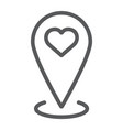 love location line icon love and gps map pointer vector image vector image