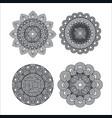 mandale monochrome art set styles vector image vector image