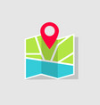 map icon with gps pin location on pin vector image vector image