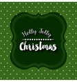 merry christmas frame isolated icon design vector image vector image
