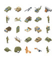 military special forces army icons vector image