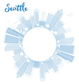 Outline Seattle City Skyline vector image