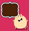 Pig with frame vector image