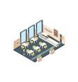 pizzeria interior fast food caffe restaurant vector image