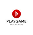 playgame logotype emblem for video hosting vector image