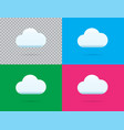 professional cloud icon set in isolated on blue vector image
