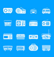 radio music old device icons set simple style vector image vector image