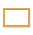 realistic wooden picture frame isolated on white vector image vector image