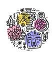 russian cultural symbols vector image vector image