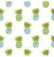 seamless pattern with abstract pineapples vector image