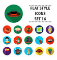 spain country set icons in flat style big vector image vector image