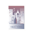 trip to new york travel poster template vector image