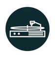turntable vinyl music sound block style icon vector image