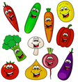 vegetable cartoon character vector image vector image
