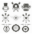 Vintage Design Elements Retro Hipster Style vector image
