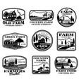 vintage farm marketing logos and labels set vector image vector image