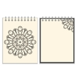 White cover notebook with handmade black pattern vector image vector image