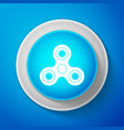 white fidget spinner icon trendy hand spinner vector image