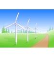 Wind power industry Windmill energy generator vector image