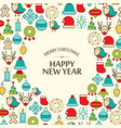 winter holidays festive background vector image vector image