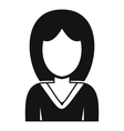 Woman avatar profile icon simple style vector image