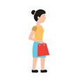 woman shopping icon image vector image vector image