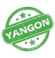 Yangon green stamp vector image vector image