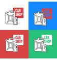 online car oil shop icon vector image