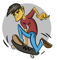 skater boy doing a trick in air vector image