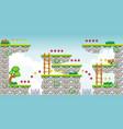 2d tileset platform game 20 vector image vector image