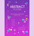 abstract poster original design creative solution vector image vector image