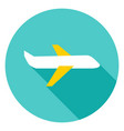 airplane circle icon vector image vector image